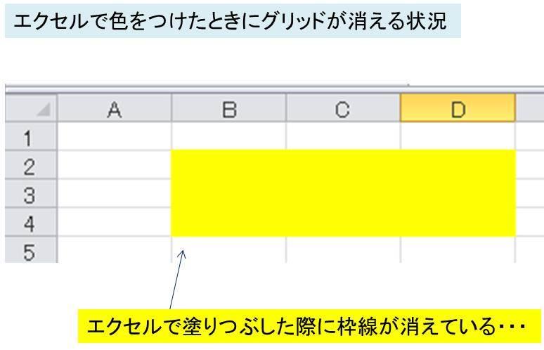 エクセル pdf 線 消える