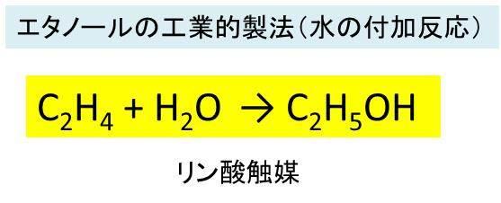 燃焼 エタノール 化学 反応 式 完全