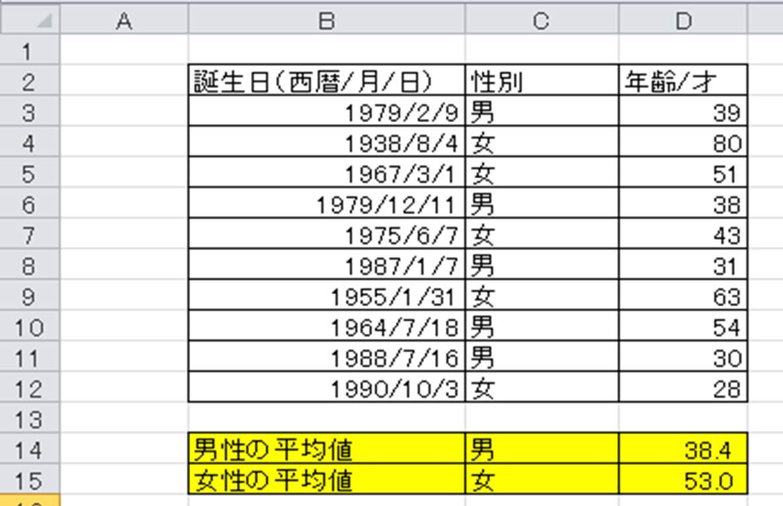 年齢 式 エクセル 計算