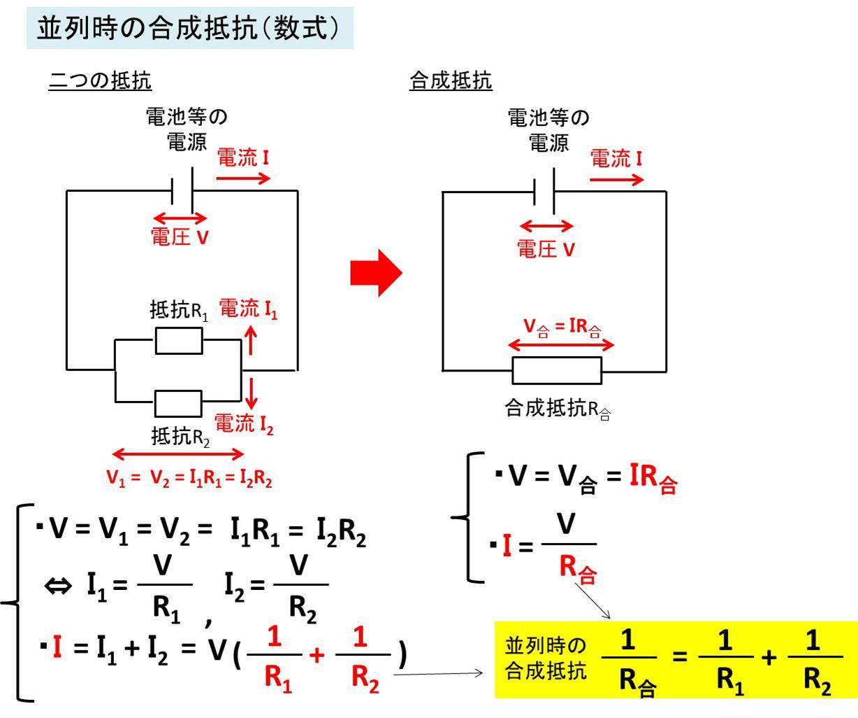 合成抵抗2(直列と並列が混ざった回路)