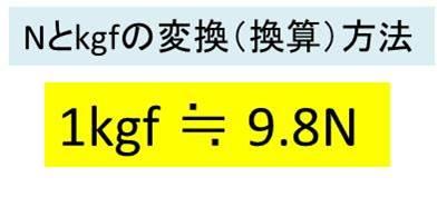 単位N(ニュートン)とkgf(キログラムフォース)の違いと変換方法 Nや ...