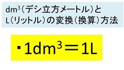 dm3(立方デシメートル)とL(リ...