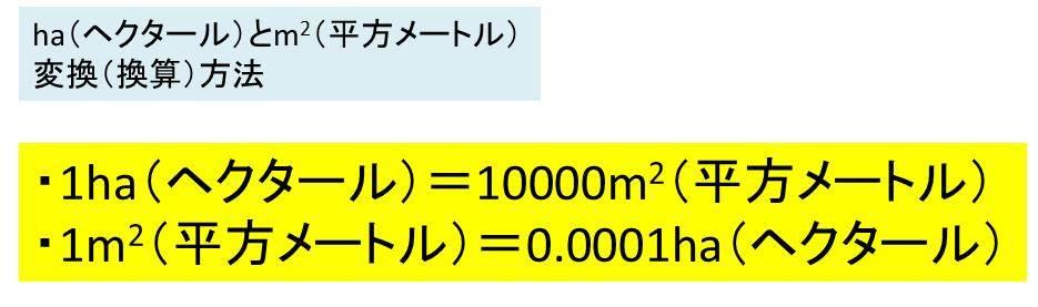 は 何 平方メートル 1 ヘクタール