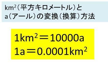 ヘクタール 何 平方キロメートル は 1