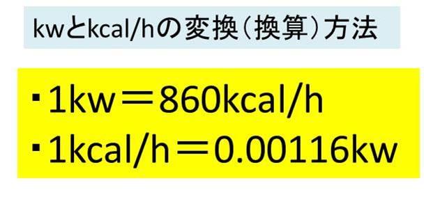 kcal/hとkW(キロワット)の変換(換算)方法 計算問題を解いてみよう