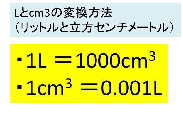 は 立方メートル 何 リットル 1